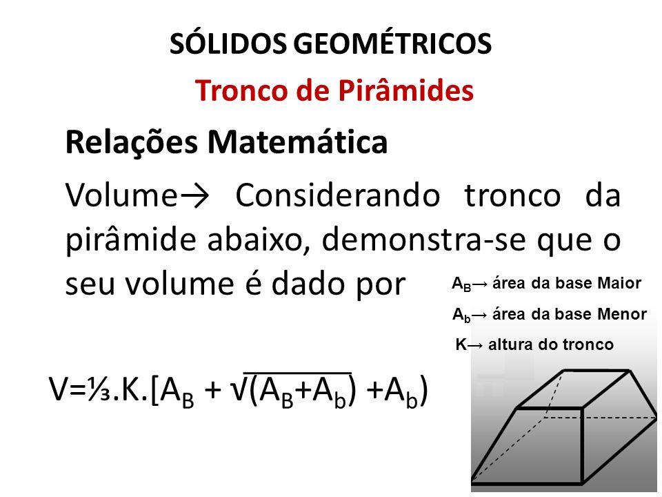 V=⅓.K.[AB + √(AB+Ab) +Ab)